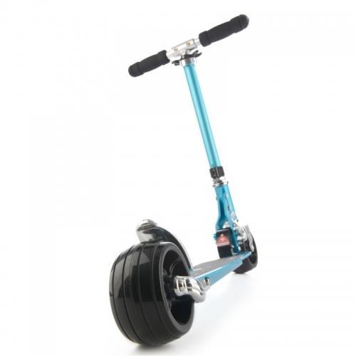 Skládací koloběžka Micro Rocket se silnými koly 120 x 68 mm a širší deskou, stabilní koloběžky