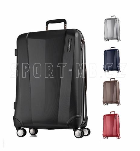 Lehké palubní zavazadlo 55 x 40 x 20 cm, příruční malý kufr March, odlehčené kufry na kolečkách - VÝPRODEJ
