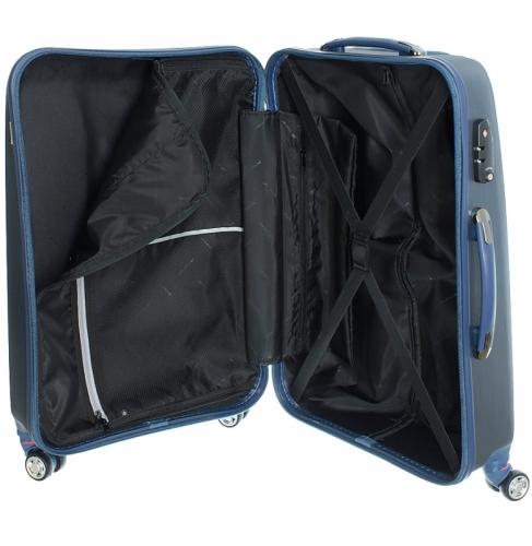 Příruční malý kufr na 4 kolečkách March New Carat brushed S 55 cm - AKCE