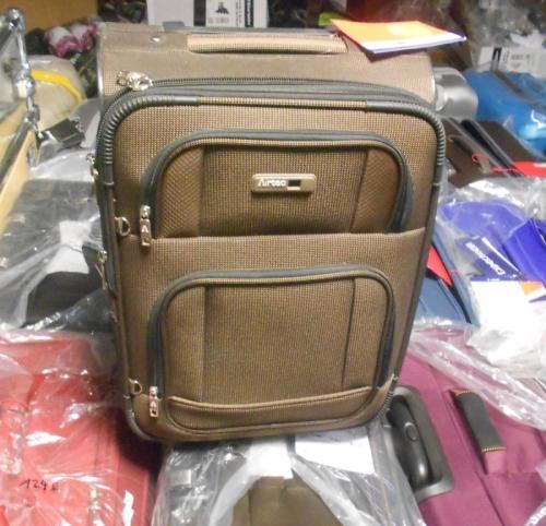 Kabinový malý cestovní kufr na 2 kolečkách Carlton Zest brown/hnědý, rozšiřitelné palubní kufry - AKCE