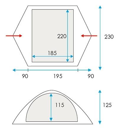 Stan pro 3 osoby Loap Trend 3 - AKCE