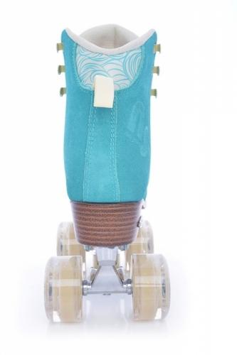 Dvouřadé dámské retro brusle Tempish Nessie Star aqua modré
