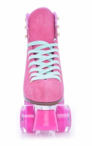Dvouřadé kolečkové retro brusle Tempish Nessie Star pink růžové