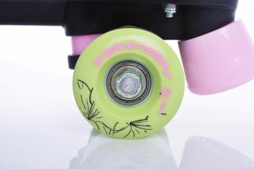 Dvouřadé brusle Tempish Sunny Bloom, dívčí a dámské čtyřkolečkové quad brusle