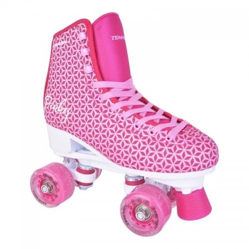 Dvouřadé brusle Tempish Pinky, růžové dívčí a dámské trekové a taneční brusle