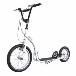Kovová koloběžka Master - nafukovací kola, čelisťové brzdy, stojan, stavitelná řidítka