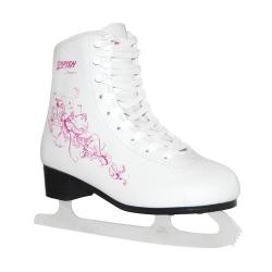Dámské dívčí brusle na led, zimní brusle Tempish Dream bílé/růžové