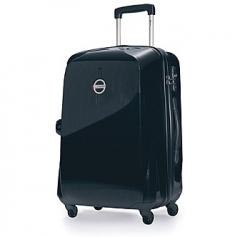 Pevný, odolný cestovní kufr Carlton 65 spinner black, 4 kolečka, číselný zámek, vysouvací madlo