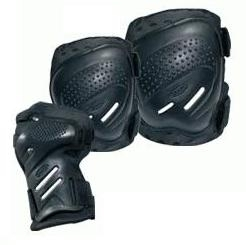 Chrániče na kolečkové brusle, sada chráničů Tempish S, M, L, XL