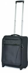 Kufr na kolečkách March Fresco black brushed 52 cm 2w (2 kolečka)