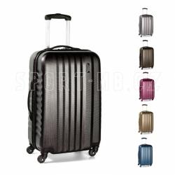 Palubní skořepinový lehký kufr na 4 kolečkách March Ribbon S brushed 55 cm