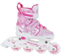 Dívčí dětské roztahovací kolečkové brusle Tempish Swist pink růžové