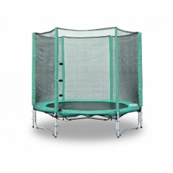 Venkovní trampolína s ochrannou sítí 244 cm, žebřík a krycí plachta zdarma