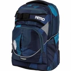 Školní batoh Nitro Superhero fragments blue