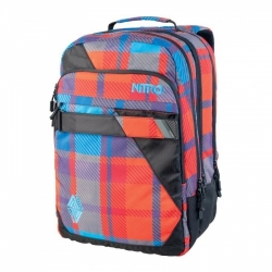 Batoh Nitro Lock plaid red-blue