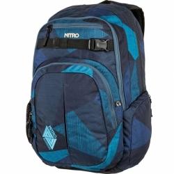 Městský batoh 35L Nitro Chase fragments blue/modrý s kapsou na notebook