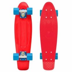 "Penny Original board Red blue 22"" červený s modrými kolečky"