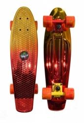"""Plastový penny board, skateboard Tempish Buffy Star 22,5"""" gold /zlatý"""