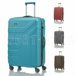 Cestovní kufr na 4 kolečkách Travelite Vector 77 cm, odolný plastový kufr do letadla