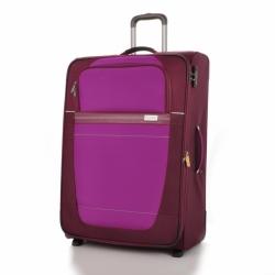 Velký cestovní kufr Travelite Meteor 2w L Berry rozšiřitelný 116-131 L