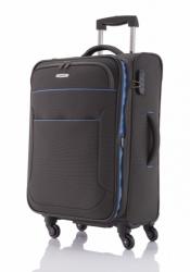 Kufr na 4 kolečkách Travelite Derby 4w M anthracite, střední textilní kufry s kolečky