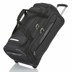 Cestovní taška na kolečkách Travelite CrossLITE Wheeled duffle M Black 82 litrů