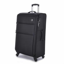 Velký textilní kufr na 4 kolečkách rozšiřitelný Titan Cloud L black ultralehký