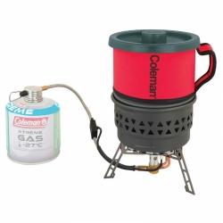 Plynový vařič Coleman FyreStorm PCS s ochranou proti větru a včetně hrnce