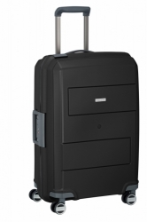 Střední plastový kufr na 4 kolečkách Travelite Makro M 66 cm