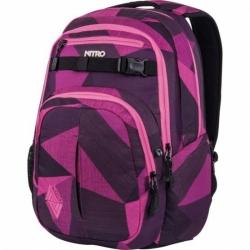 Dámský mětský batoh Nitro Chase fragments purple 35 L