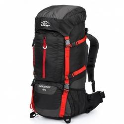 Turistický batoh Loap Evolution 60 L černá / červená