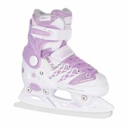 Dětské dívčí posuvné nastavovací lední brusle Tempish Clips Ice Girl bílé/fialové