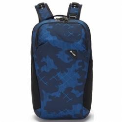 Batoh Pacsafe Vibe 20L Backpack blue camo, bezpečné batohy