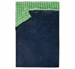 Velký dekový spací pytel pro 2 osoby Loap Trax modrý/zelený