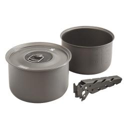 Cestovní campingové nádobí Coleman, hliníková kempingová sada hrnců s pokličkou