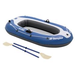 Rekreační nafukovací člun pro 1 - 2 osoby, levné čluny pro dva, pádla, pumpa zdarma