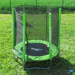Venkovní dětská trampolína s ochrannou sítí 244 cm, dětské trampolíny levně