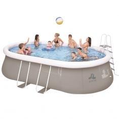 Oválný velký bazén 540 x 304 cm s pískovou filtrací,plachta,schůdky,doprava zdarma