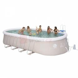 Oválný bazén s filtrací, plachtou, schůdky, zahradní bazény ovál 610 x 360 cm