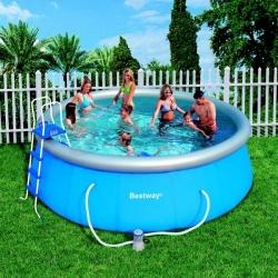 Velký nafukovací dětský nadzemní bazén 457 x 122 cm set s filtrací, plachta, schůdky, doprava zdarma