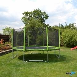 Dětská venkovní trampolína 366 cm, trampolíny akční sety (žebřík + ochranná síť)